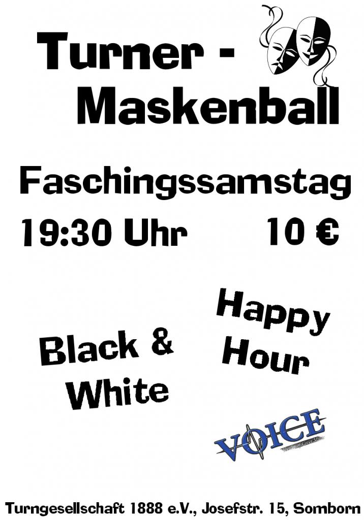 Maskenball 2020 Plakat